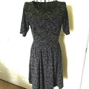 Apt. 9 Dress XS Womens Black White Heather Pockets